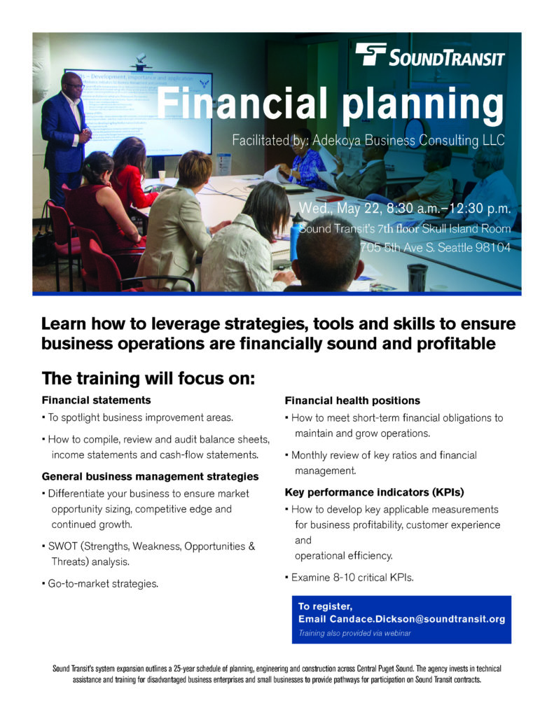 Sound Transit Presents: Financial Planning with Adekoya Consulting